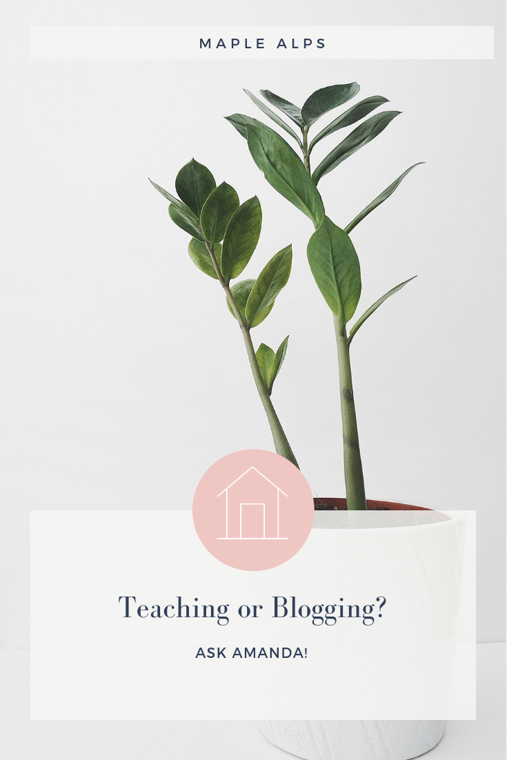 Ask Amanda: Teaching or Blogging? | www.maplealps.com