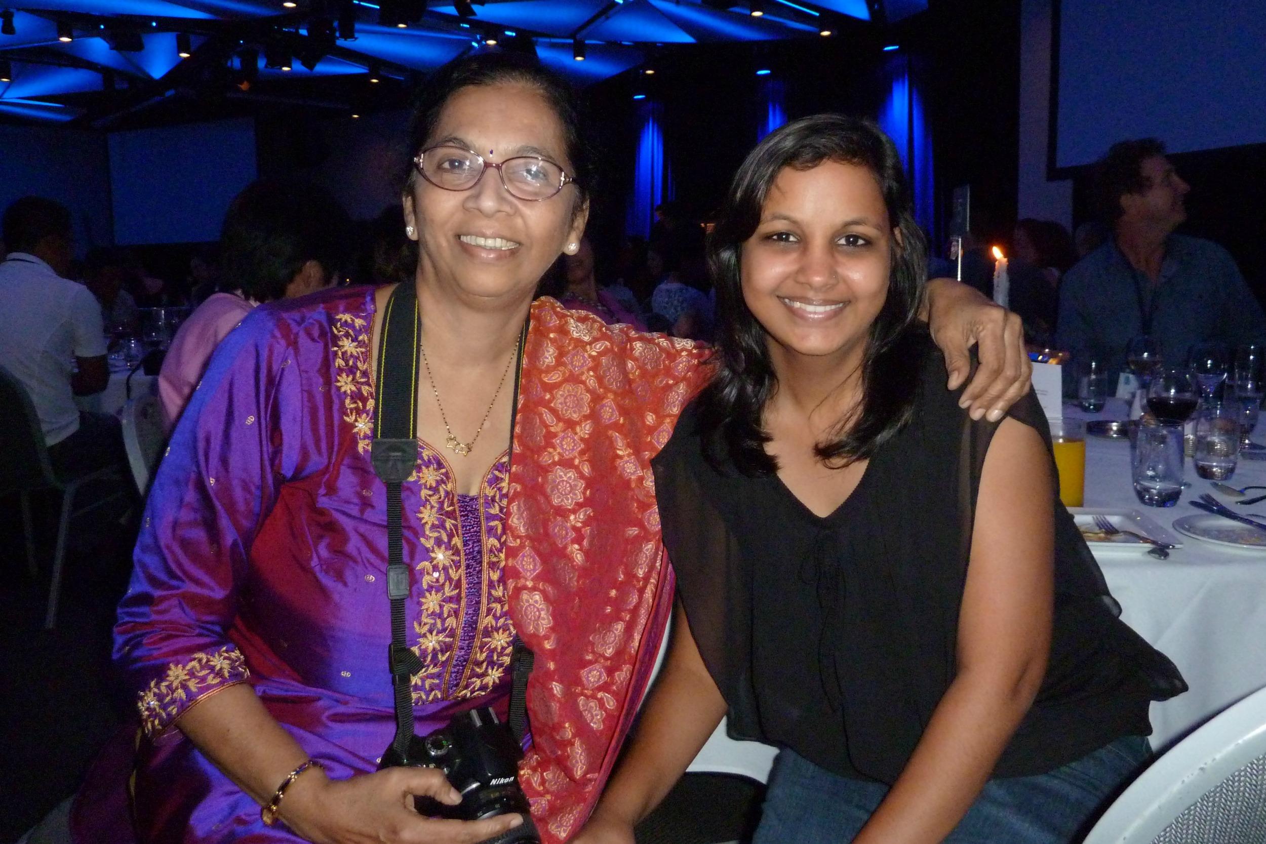 P1050234 Madhavi Indap and student Sweta Agrawal.jpg