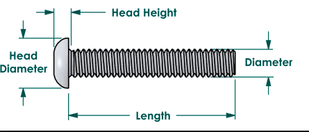 Measurements for a dome_parallel_taper head bolt.png