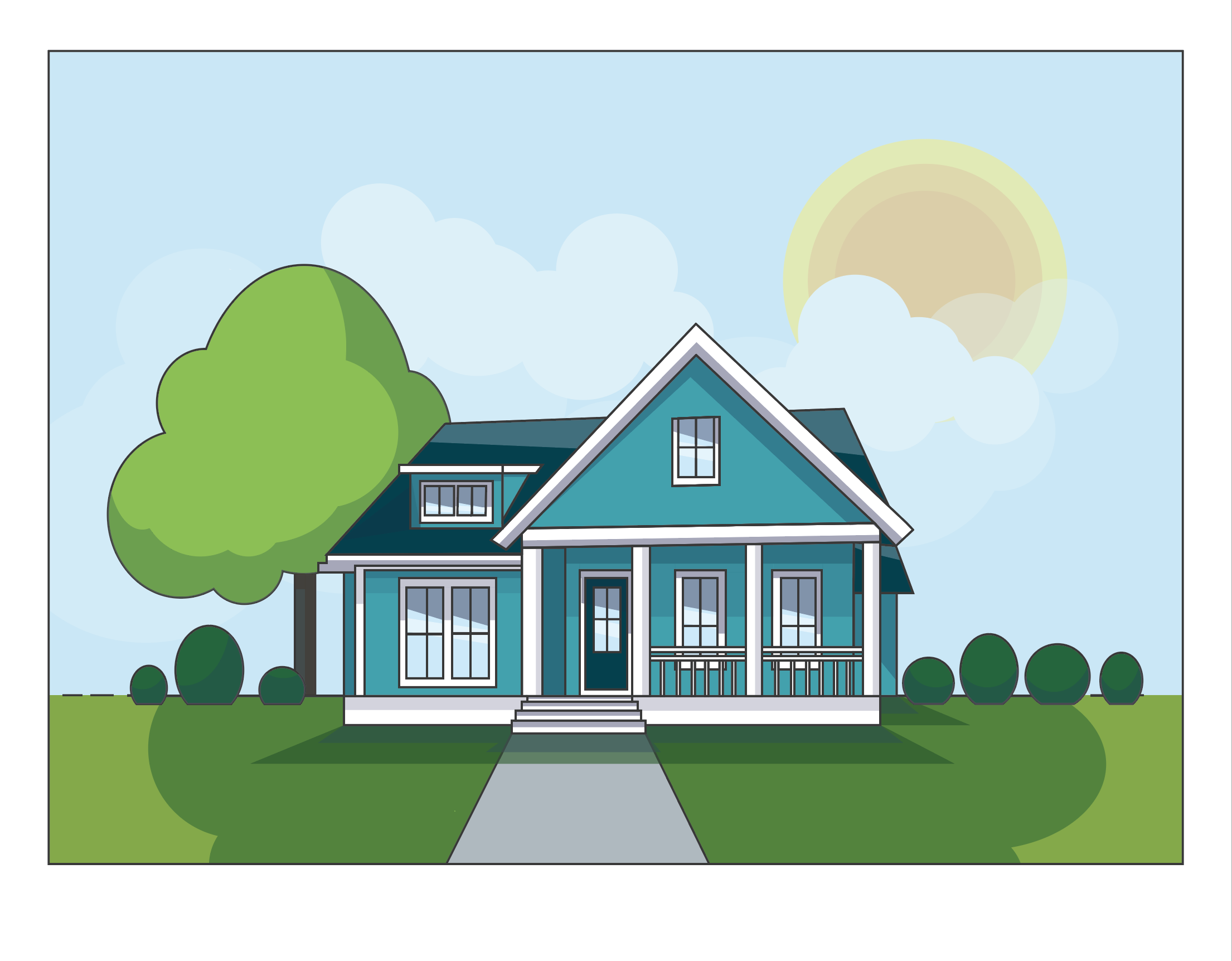 High School Lesson Plan: Flat House in Illustrator