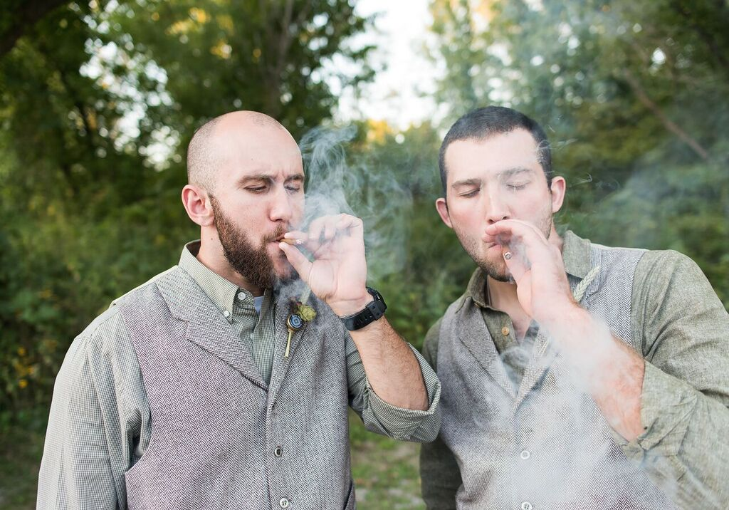 Jared and Erin bros smoking.jpg