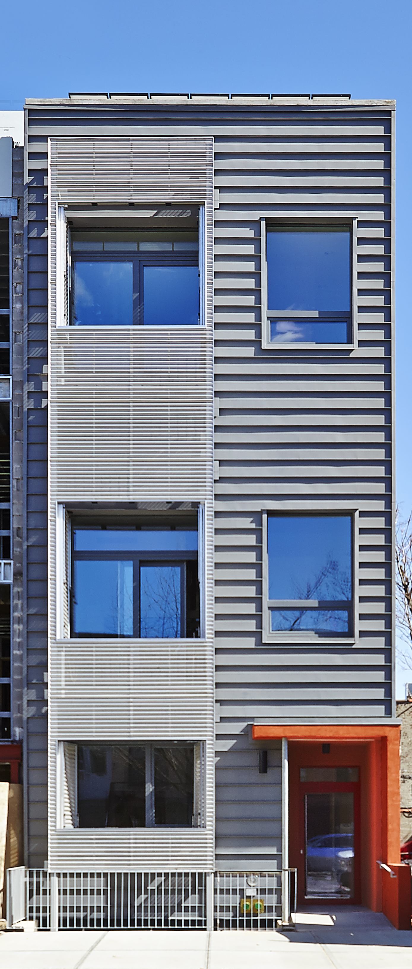 Paul A. Castrucci, Architects : R-951 Passive House and Net Zero project_front facade