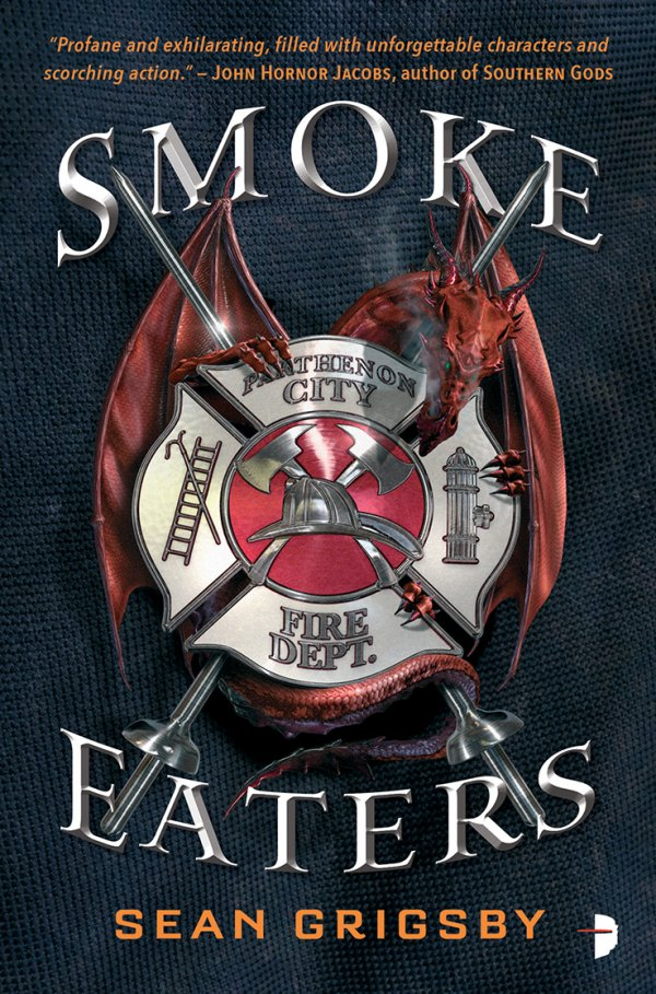 Available Now from Angry Robot Books - When dragons rise from the earth, firefighters are humanity's last line of defence, in this wild near-future fantasy.Firefighter Cole Brannigan is on the verge of retirement after 30 years on the job, and a decade fighting dragons. But during his final fire call, he discovers he's immune to dragon smoke. It's such a rare power that he's immediately conscripted into the elite dragon-fighting force known as the Smoke Eaters. Retirement cancelled, Brannigan is re-assigned as a lowly rookie, chafing under his superiors. So when he discovers a plot to take over the city's government, he takes matters into his own hands. With hundreds of innocent civilians in the crosshairs, it's up to Brannigan and his fellow Smoke Eaters to repel the dragon menace.