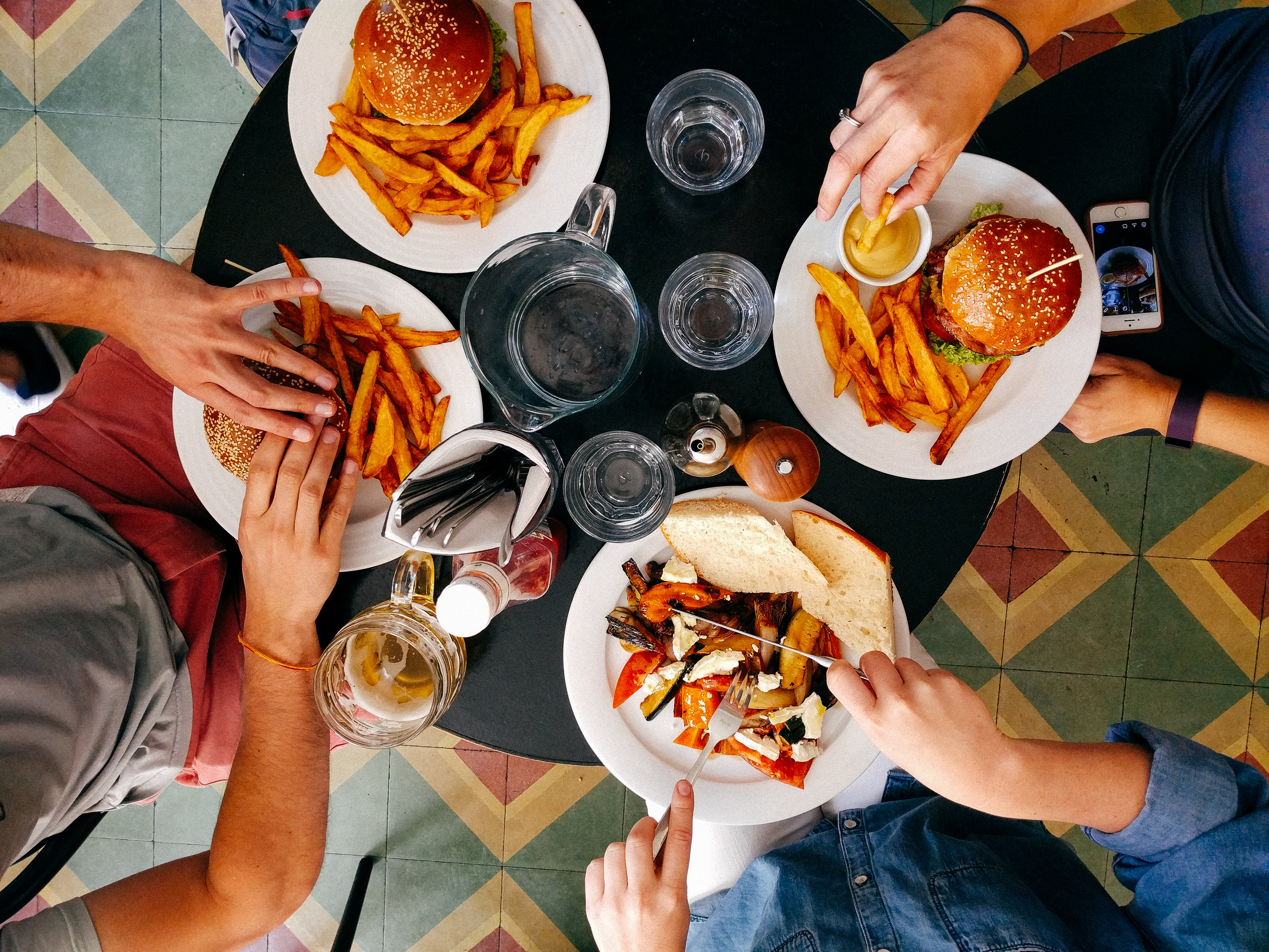 Eating healthy helps manage anxiety