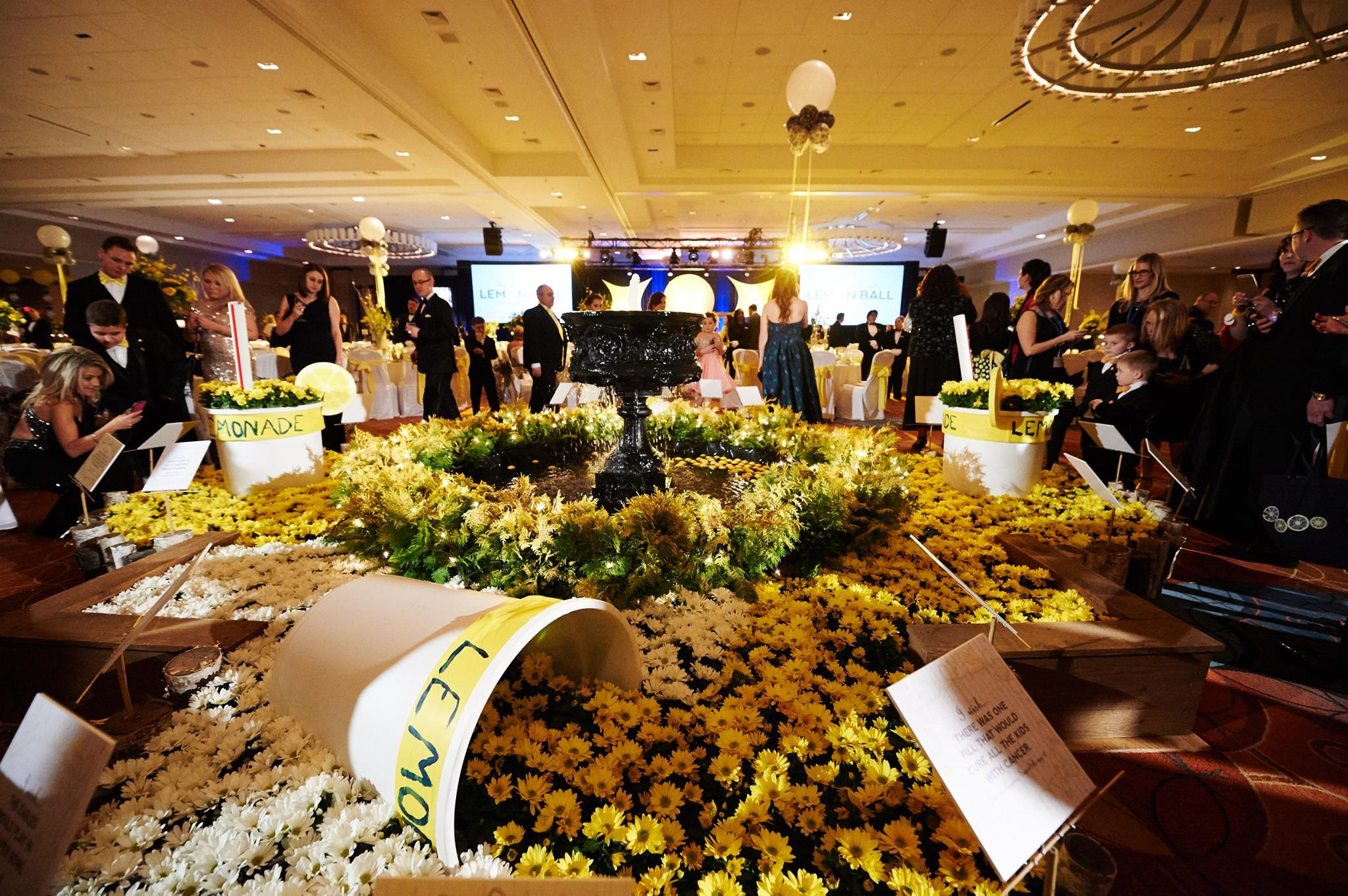 Each year, Terren supports the Alex's Lemonade Stand charity with a custom display at their Philadelphia Lemon Ball.