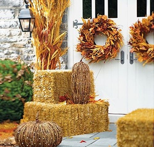Straw Bales Create Dimension