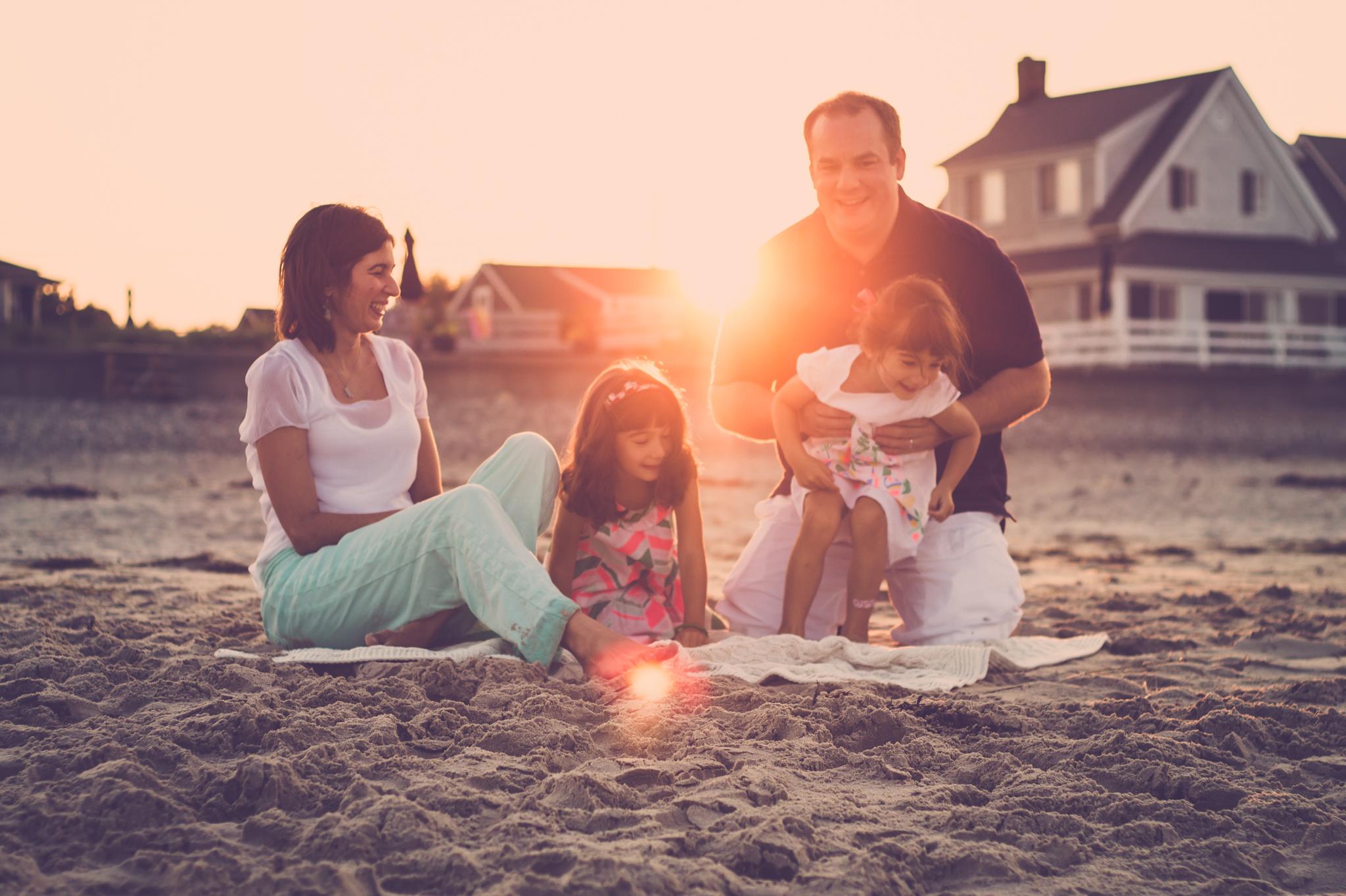 family beach photo south shore