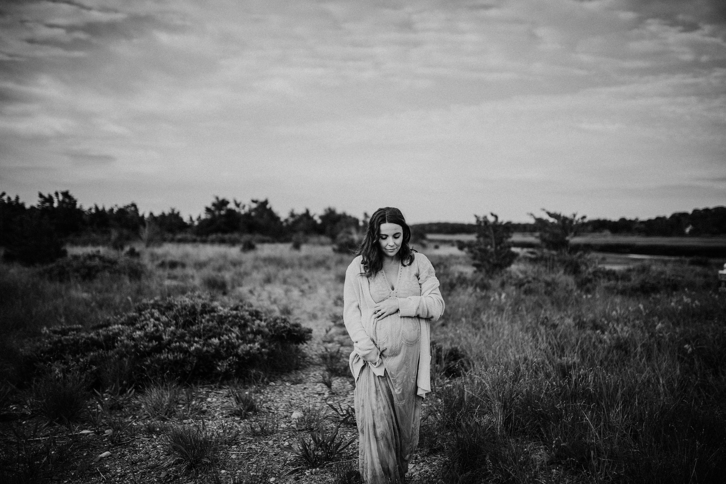 Sunrise Maternity Session at Rexhame Beach | Marshfield, MA Maternity Lifestyle Portrait Photographer