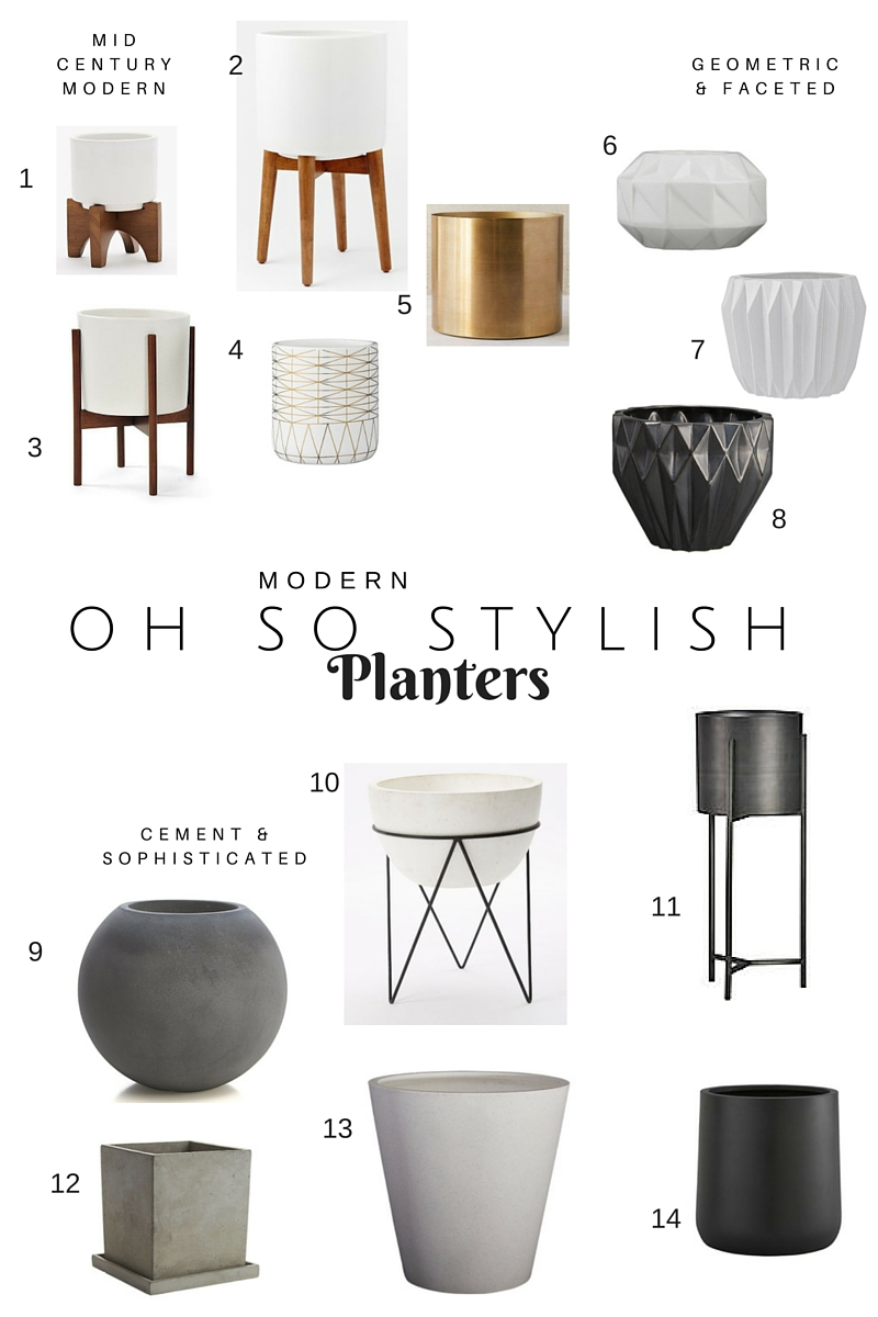 Modern Oh So Stylish Planters