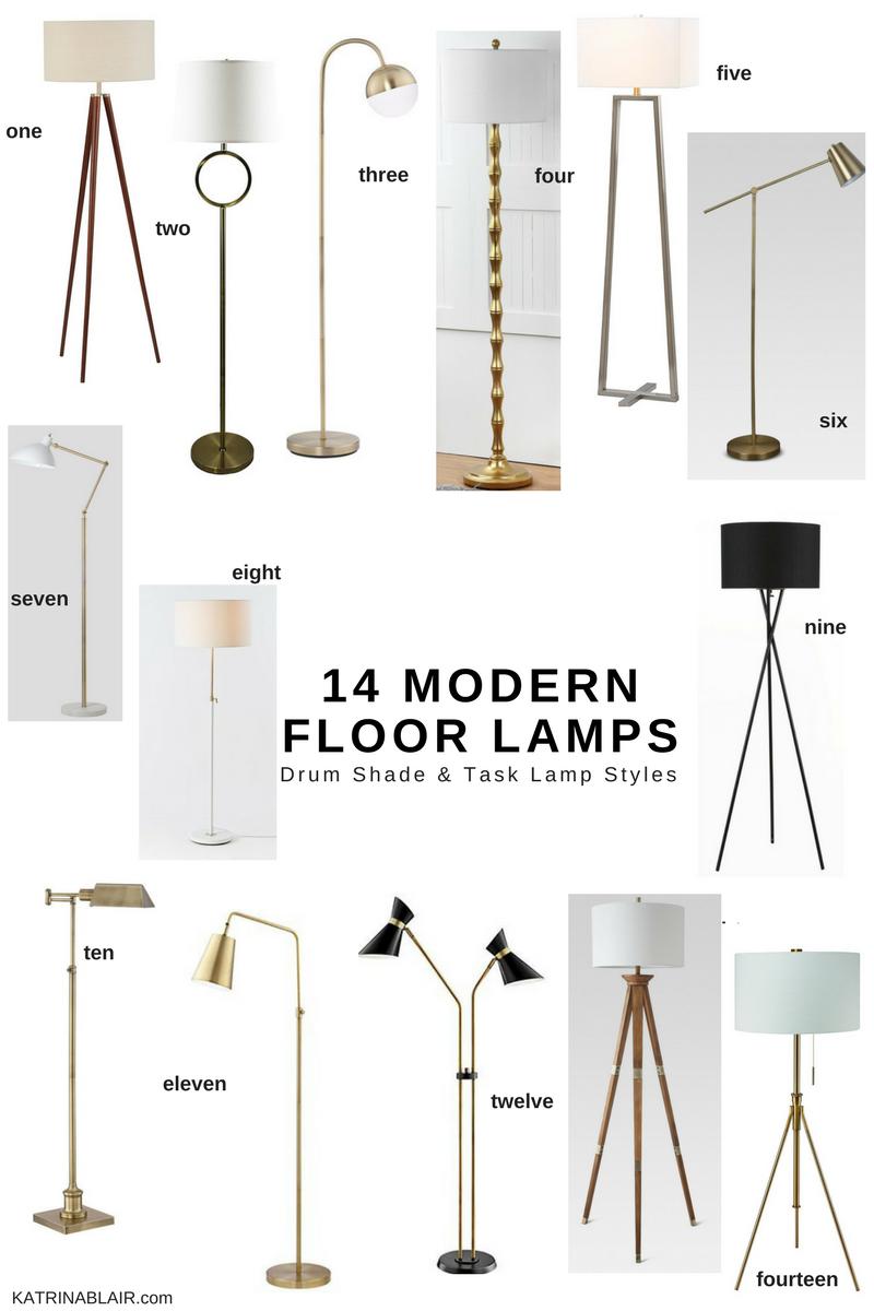 14 Modern Floor Lamps, Drum Shade & Task Lamp Style.png