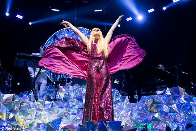 Custom Pink Sequin Jumpsuit Paloma Faith - 2018   Made for Paloma Faith's Architect Tour, Styled by Karl Willett
