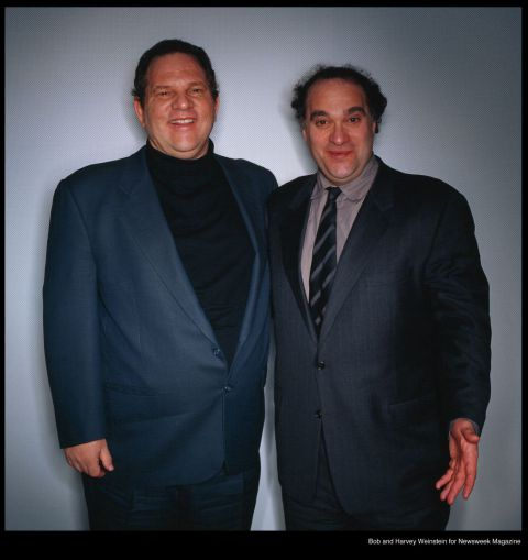 Bob and Harvey Weinstein, photographed for Newsweek by Executive Photos NYC.