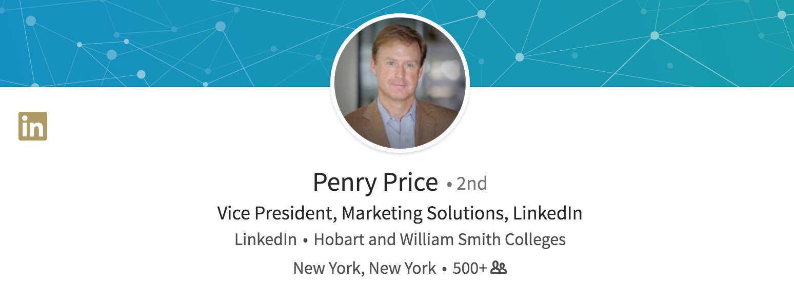 Vice President Marketing Solutions LinkedIn Penry Price