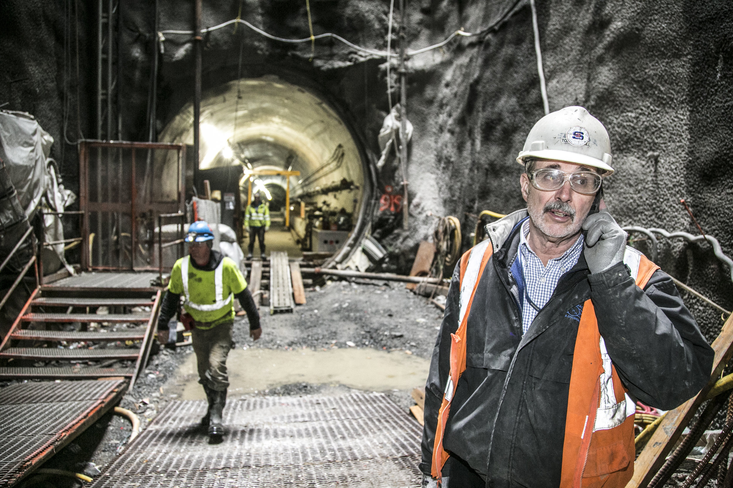 2nd avenue tunnel construction worker Industrial photography by corporate photographer Michael Benabib.jpg