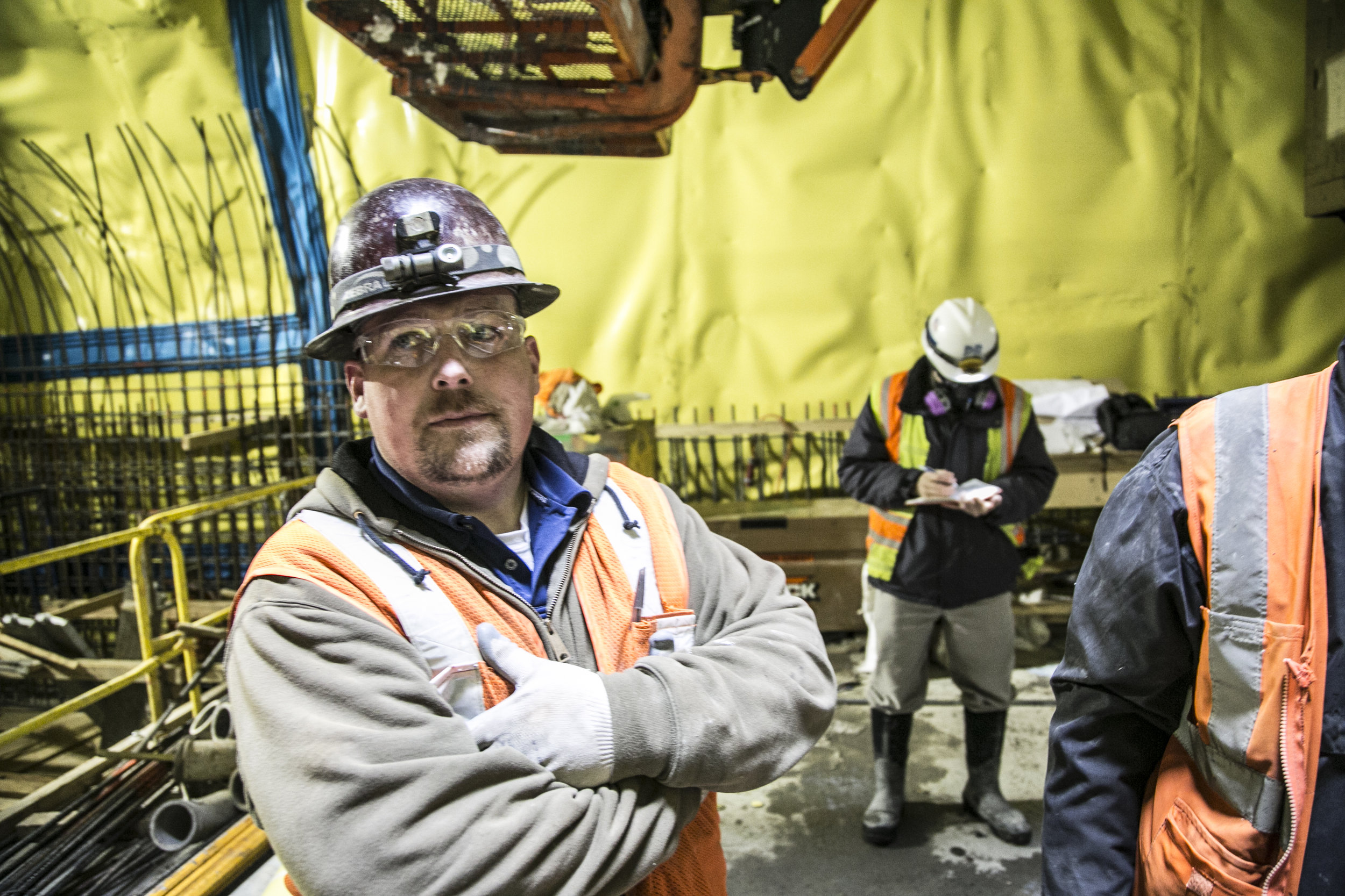 2nd avenue tunnel worker construction Industrial photography by corporate photographer Michael Benabib.jpg