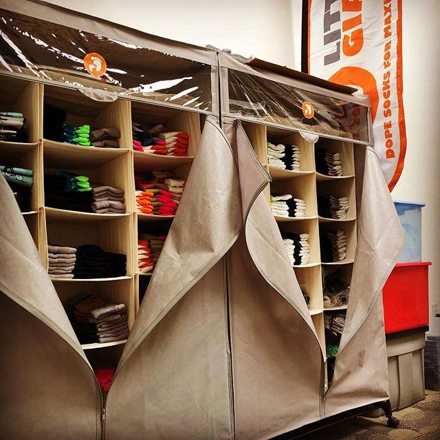 Medicine Cabinet for the feet. Got Socks 🧦? // LittleGiantApparel.com  we've got dope socks. Get Sum! #lookgoodfeelgood #getsocksgofast #littlegiantapparel #dopesocks #sockdoping #medicineforyourfeet