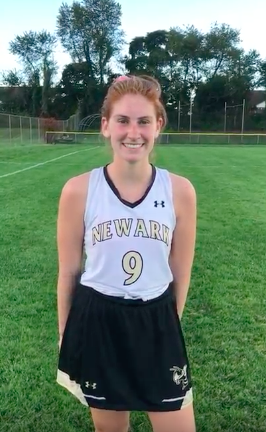 """(click here to view video)  Newark High School's """"Stick it to Muscle Disease"""" Player of the Game, Sophia Talley!"""