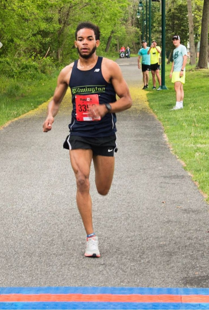 Wilmington University's Miguel Suero crossed the finish line at the 2017 Delaware Run for Strength 5k in 16:51:13, with a pace of 5:25!