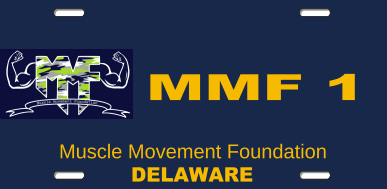Show your MMF Pride wherever you drive and purchase a MMF Delaware Specialty License Plate! Select a number, mail us an application, and replace your old license plate with THE STRONGEST PLATE in the First State! It's that easy!