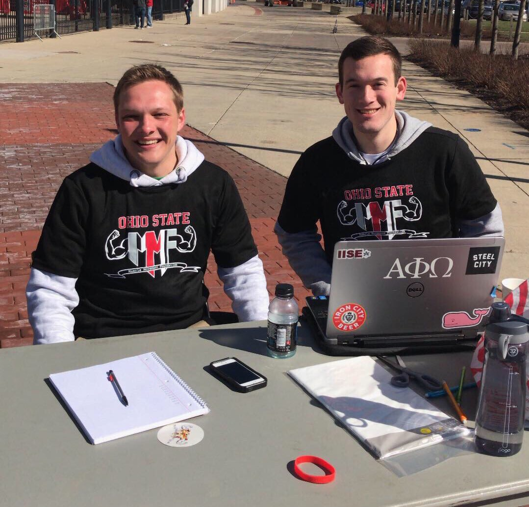 Students at the Ohio State University hosted a MMF Run for Strength 5k on campus!