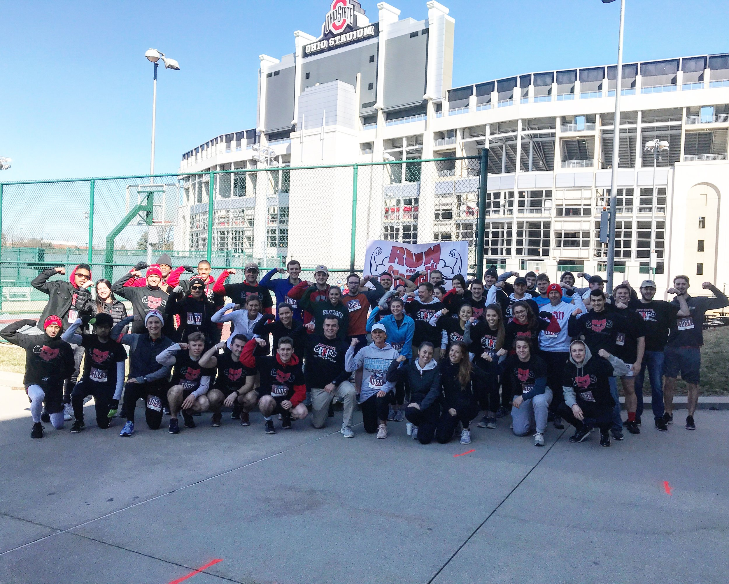 Students at Ohio State University hosted a MMF Run for Strength 5k on campus!