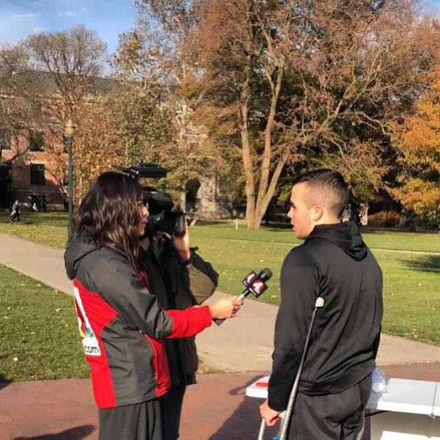 A local news station interviewed Dominic Cicconi, the President of the MMF at Ohio State!