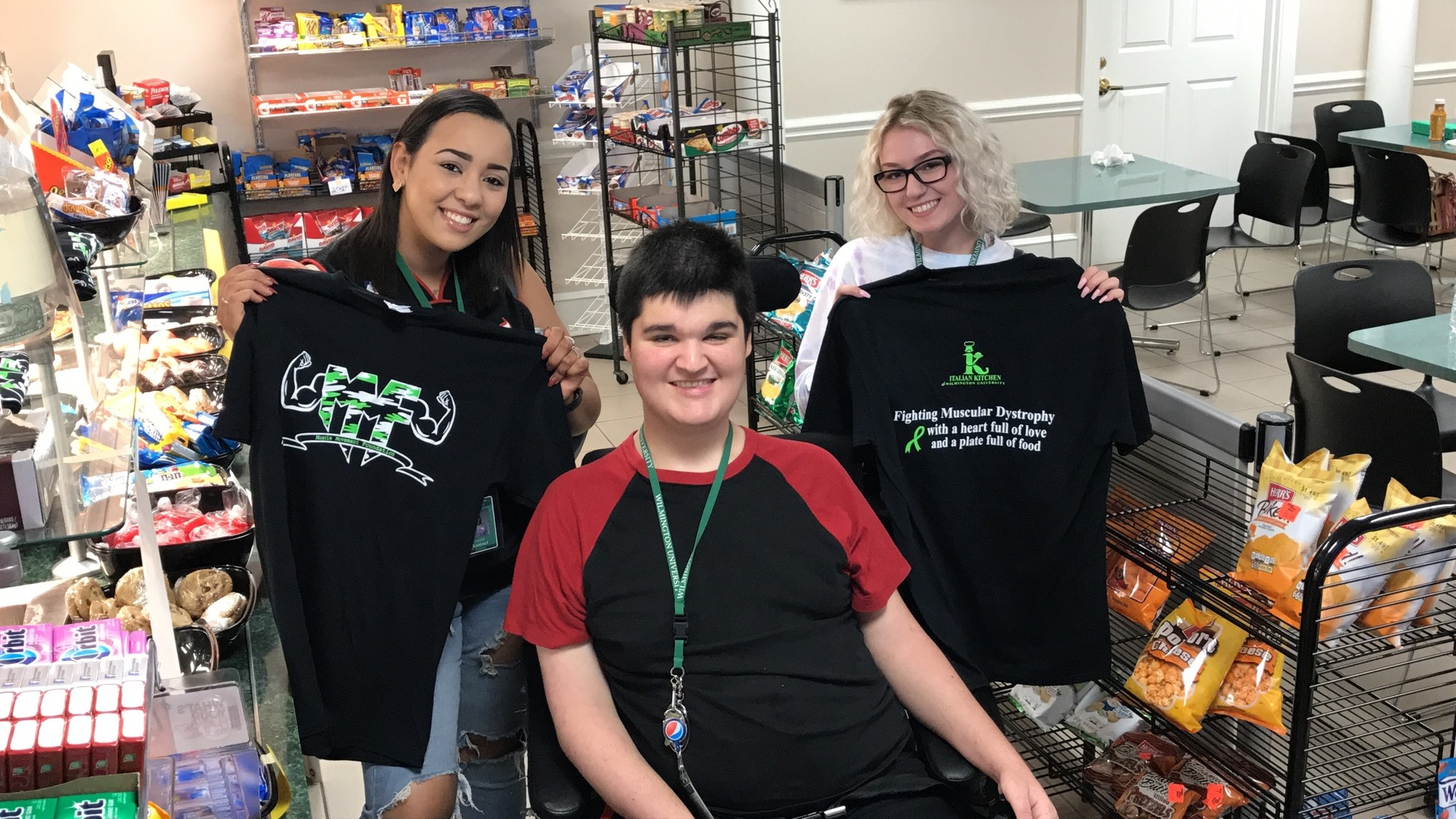 Students at Wilmington University (DE) enjoyed stopping by the Italian Kitchen at Wilmington University to purchase a MMF shirt and snacks to raise donations for MMF!