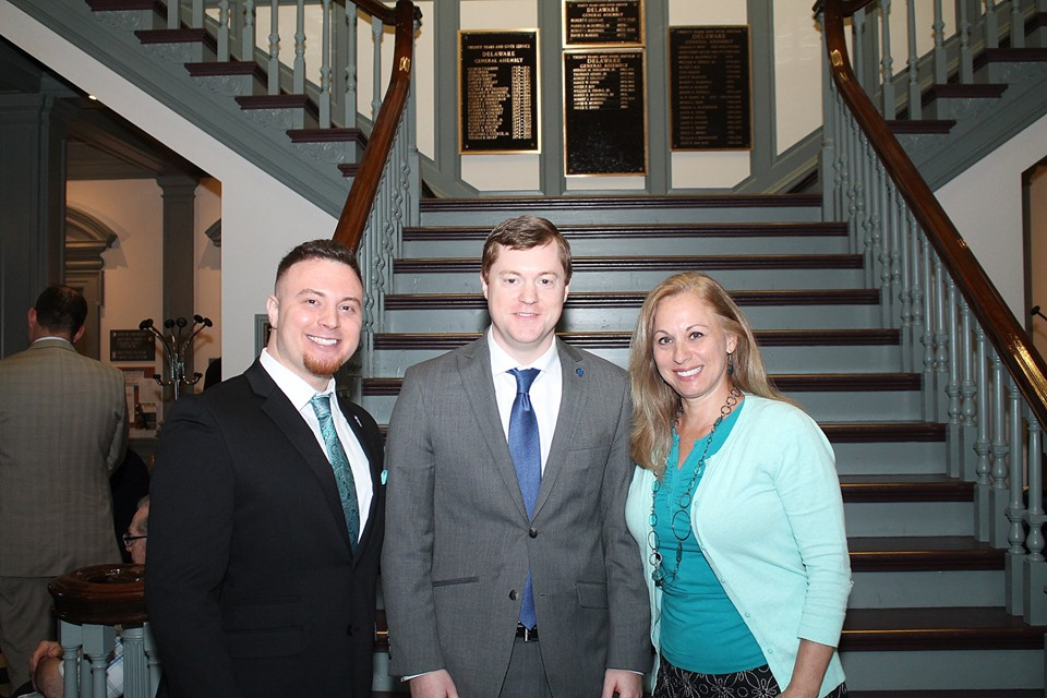 (left to right): MMF Founder Rob DeMasi, Rep. David Bentz, and MMF Volunteer Joyce Hrycak