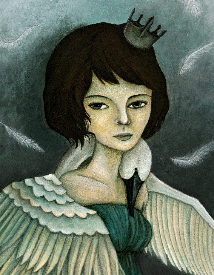 Swan Queen,    2011 Acrylic & Colored Pencil on Paper