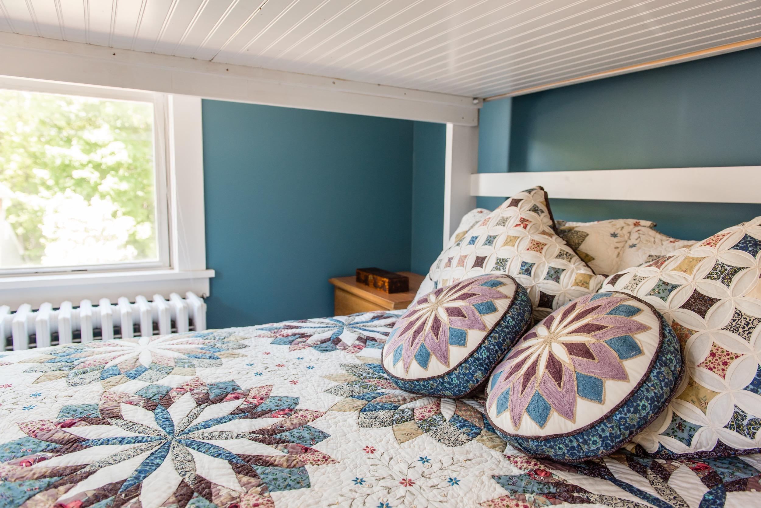 Bottom queen bunk bed