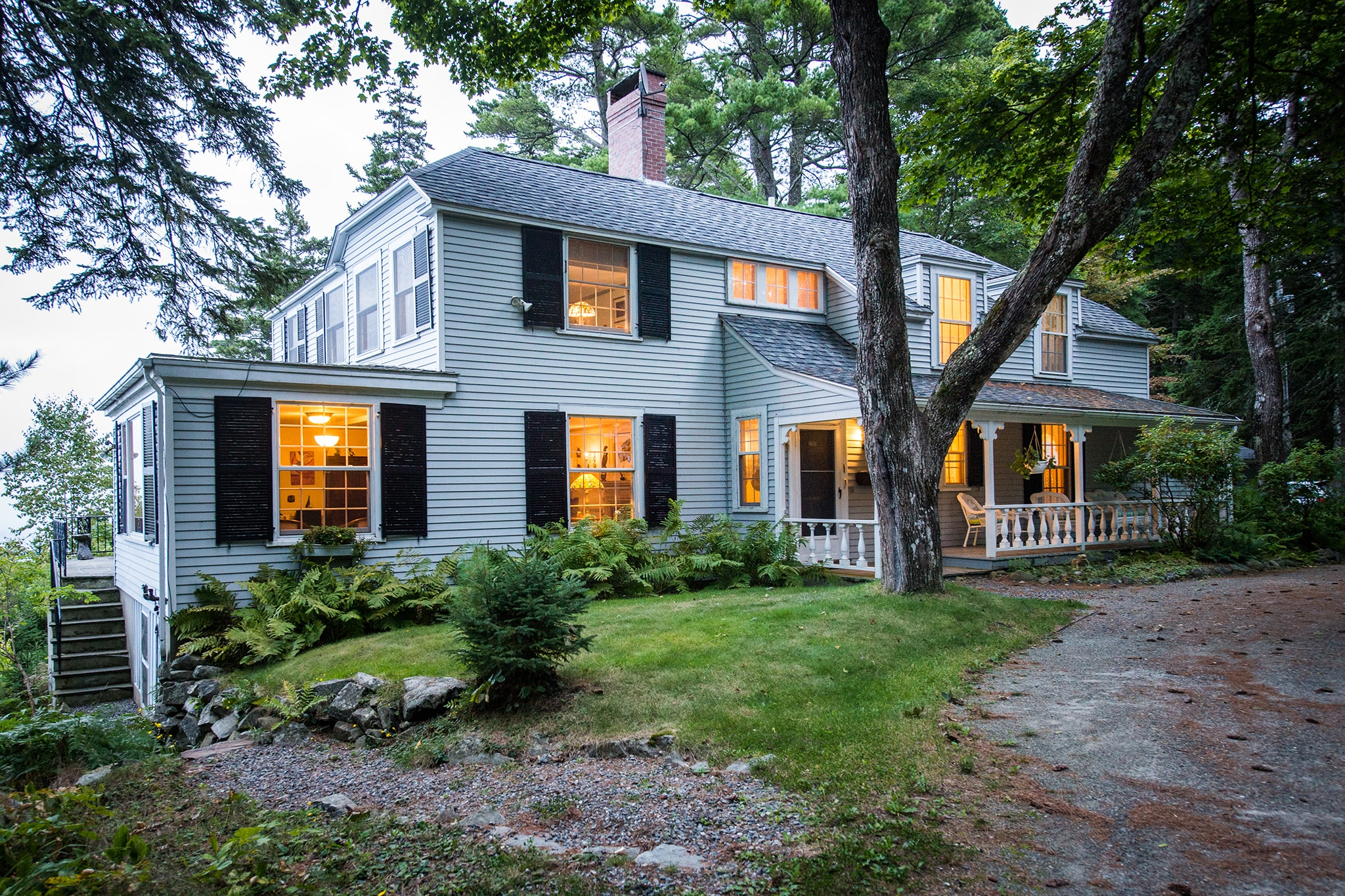 A historic oceanfront estate with stunning views of Acadia National Park.