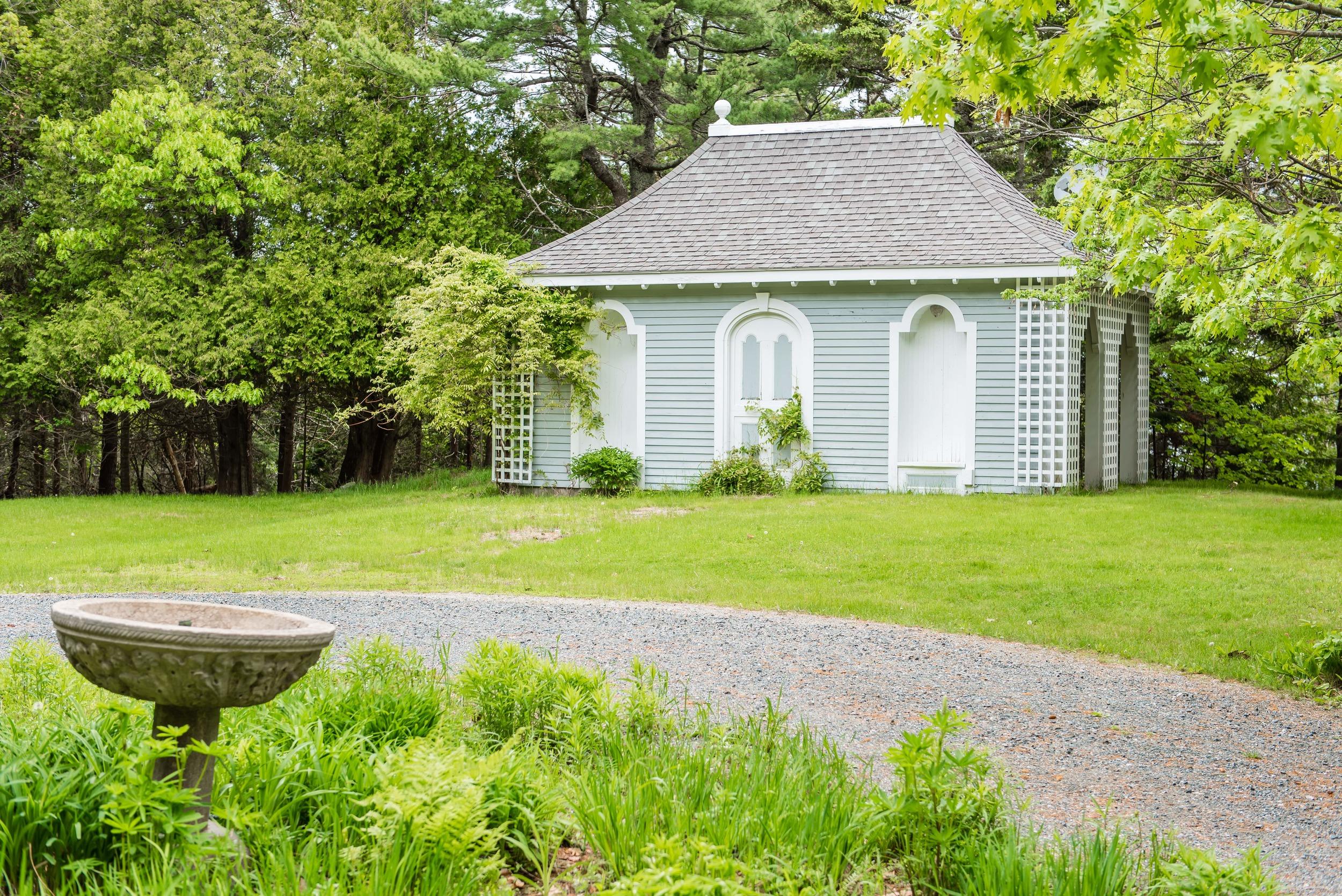 The gazebo where Jen and Adam were married.