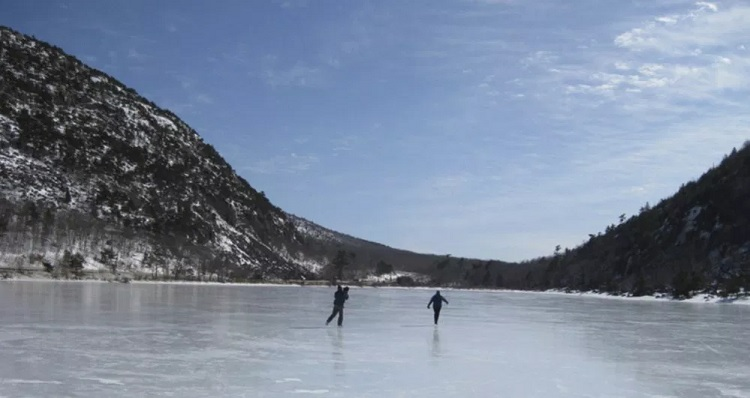 Ice Skating in Acadia National Park