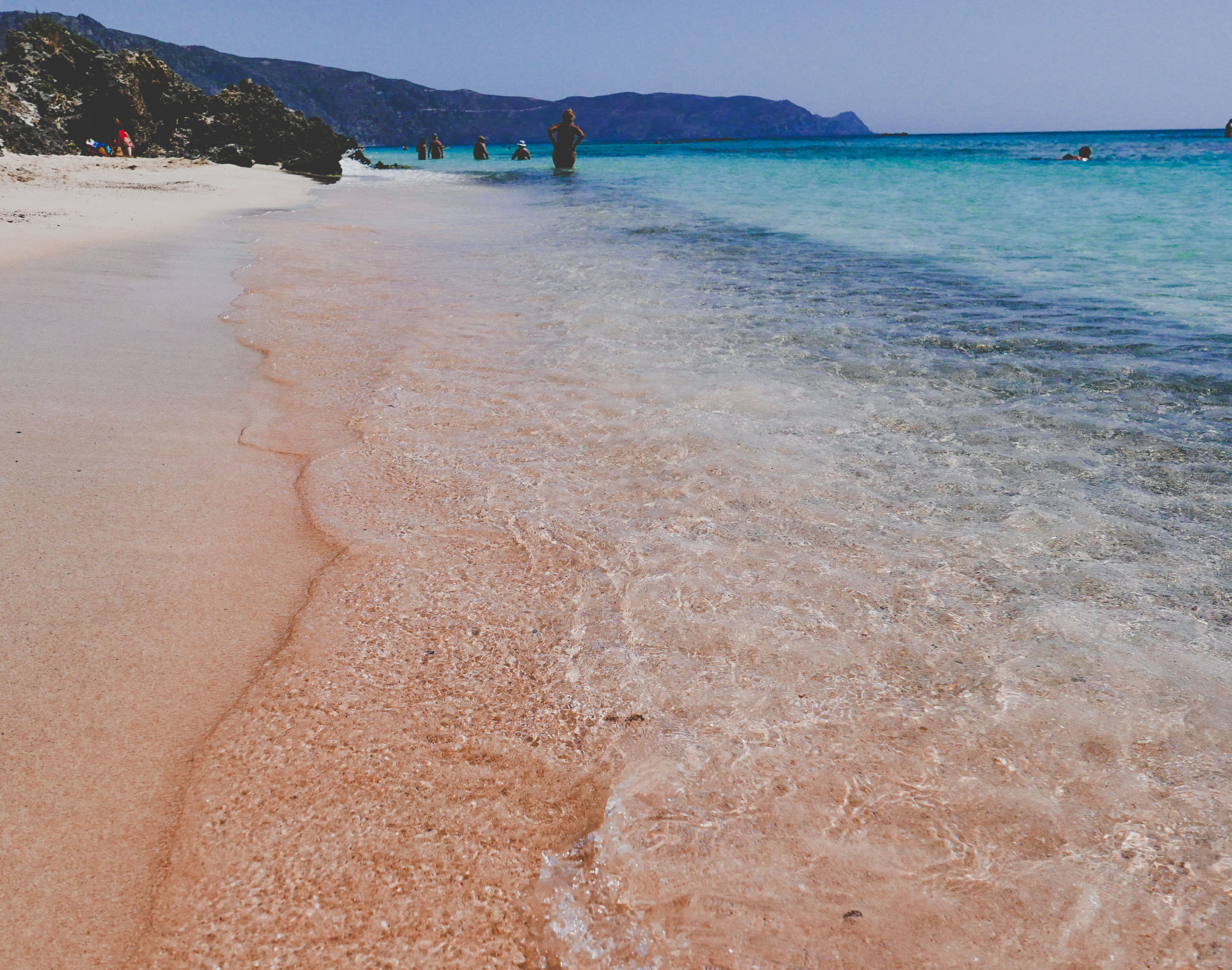Elafonisi Beach, pink sands and blue water