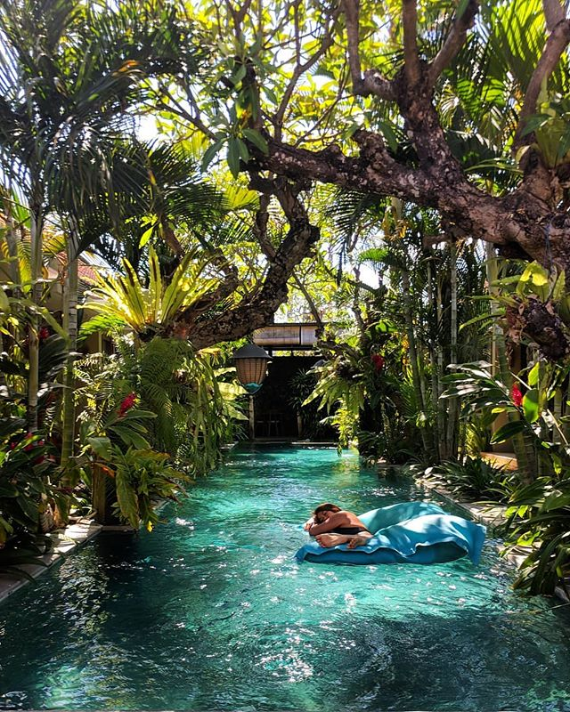 I found the pool of my dreams in Bali 😍 can't you tell I don't want to leave ❤️❤️ #bali #wonderfulindonesia #islandlife . . . . . . #girlswhoexplore #wearetravelgirls #sheadventures #femmetravel #sheisnotlost #dametraveler #girlsthatwander #simplyadventure #travelinladies #girlswhotravel #femaletravelbloggers #girlvsglobe #darlingescapes #travelgram #passionpassport #ourplanetdaily #welltravelled #beautifuldestinations #travel #travelphotography #wanderlust #remotegirls #digitalnomadgirls #explorebali