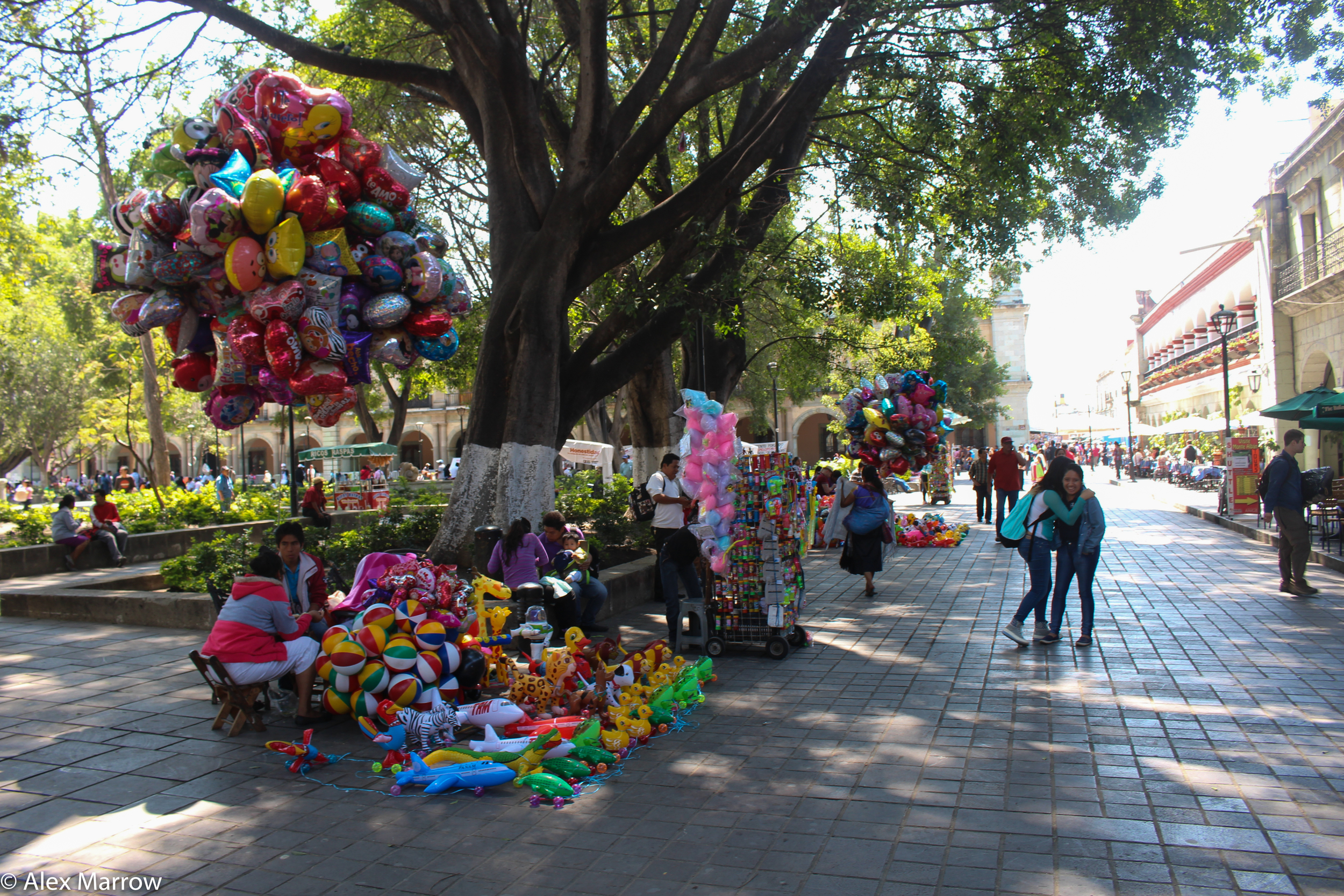 Balloon Sellers in Oaxaca