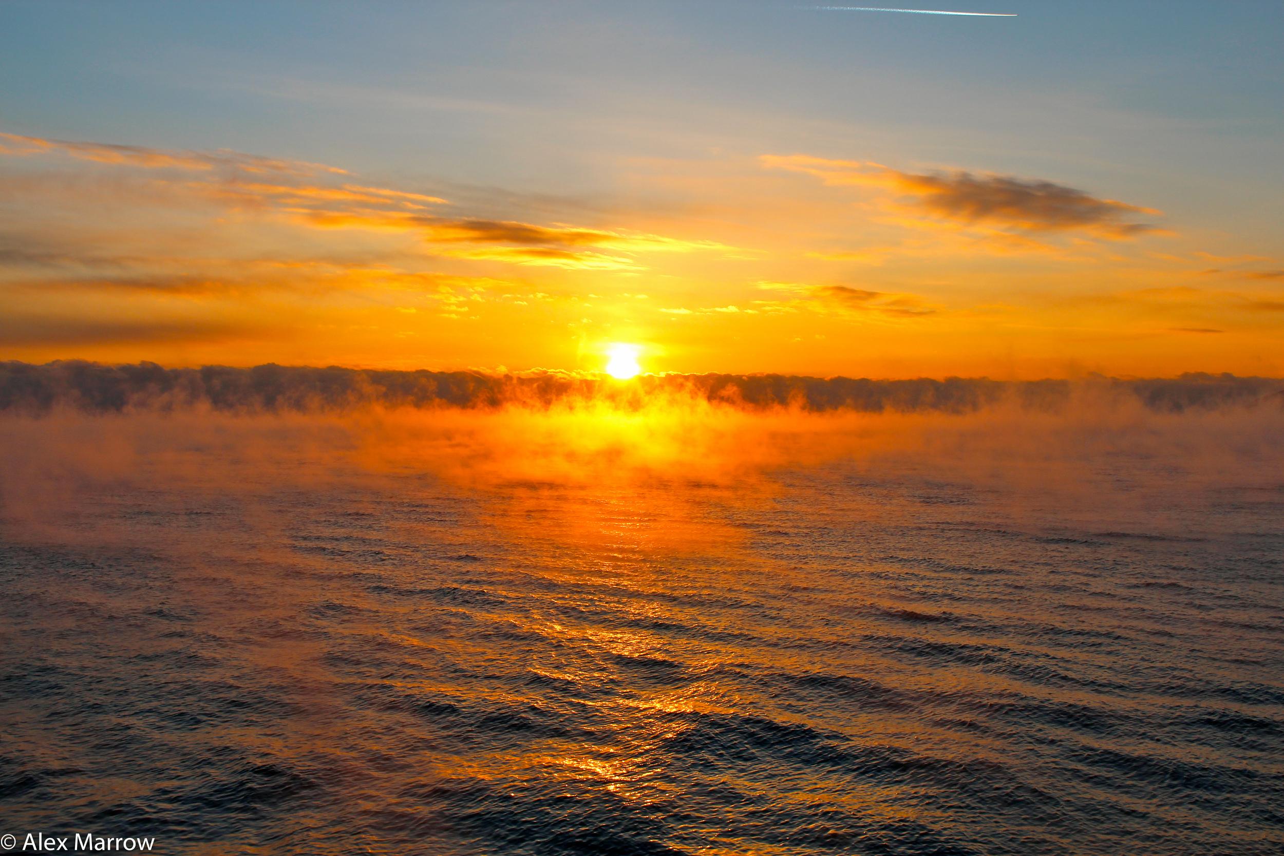 Sunset, Lake Baikal, -35°C