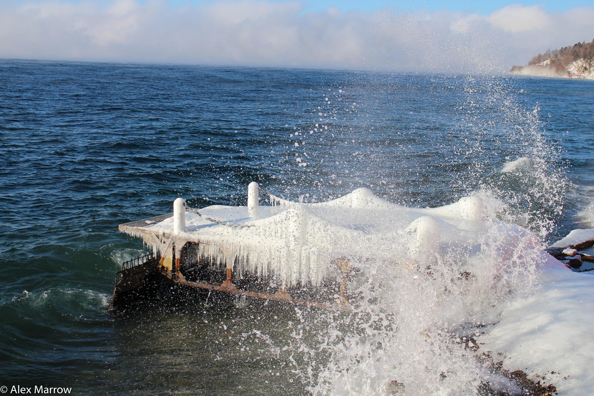 Frozen Jetty, Lake Baikal