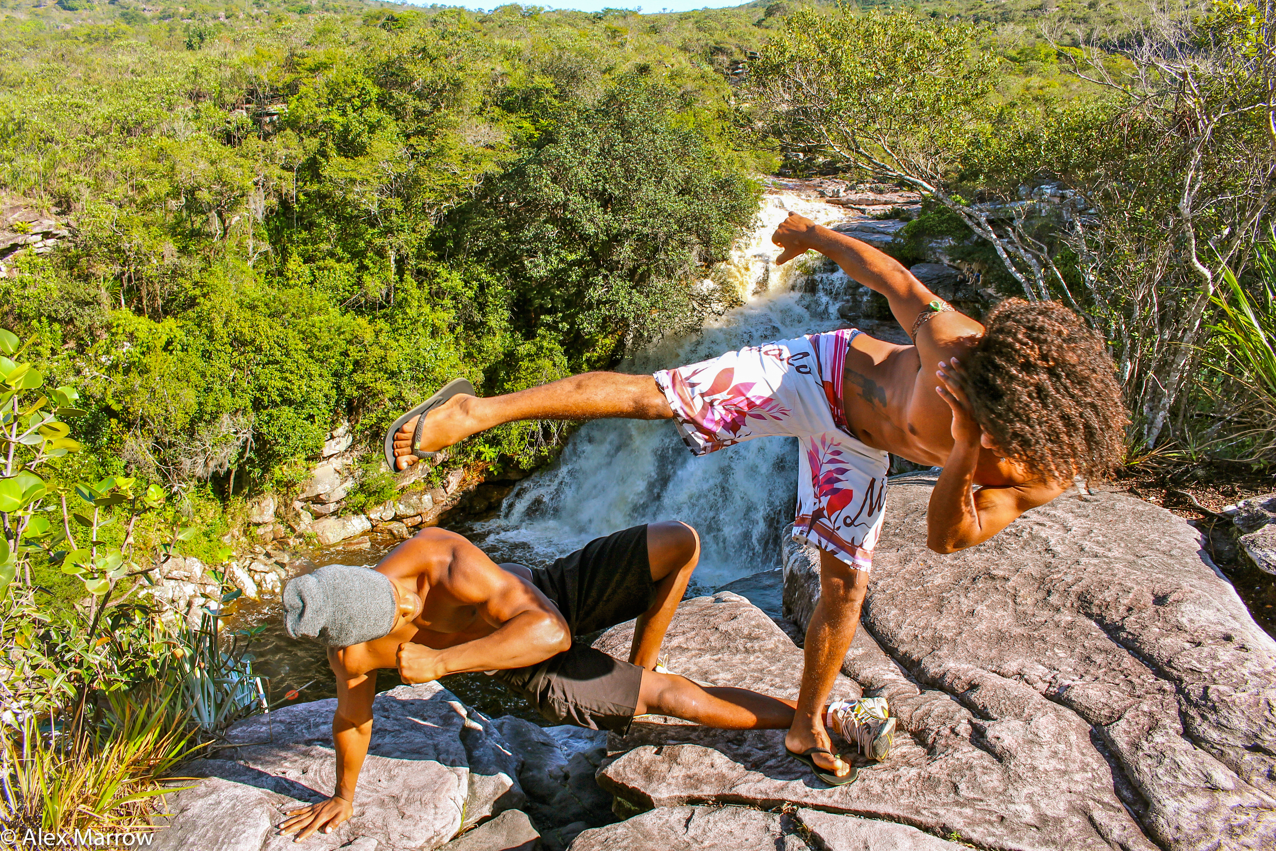 Capoeira at a Cachoeira