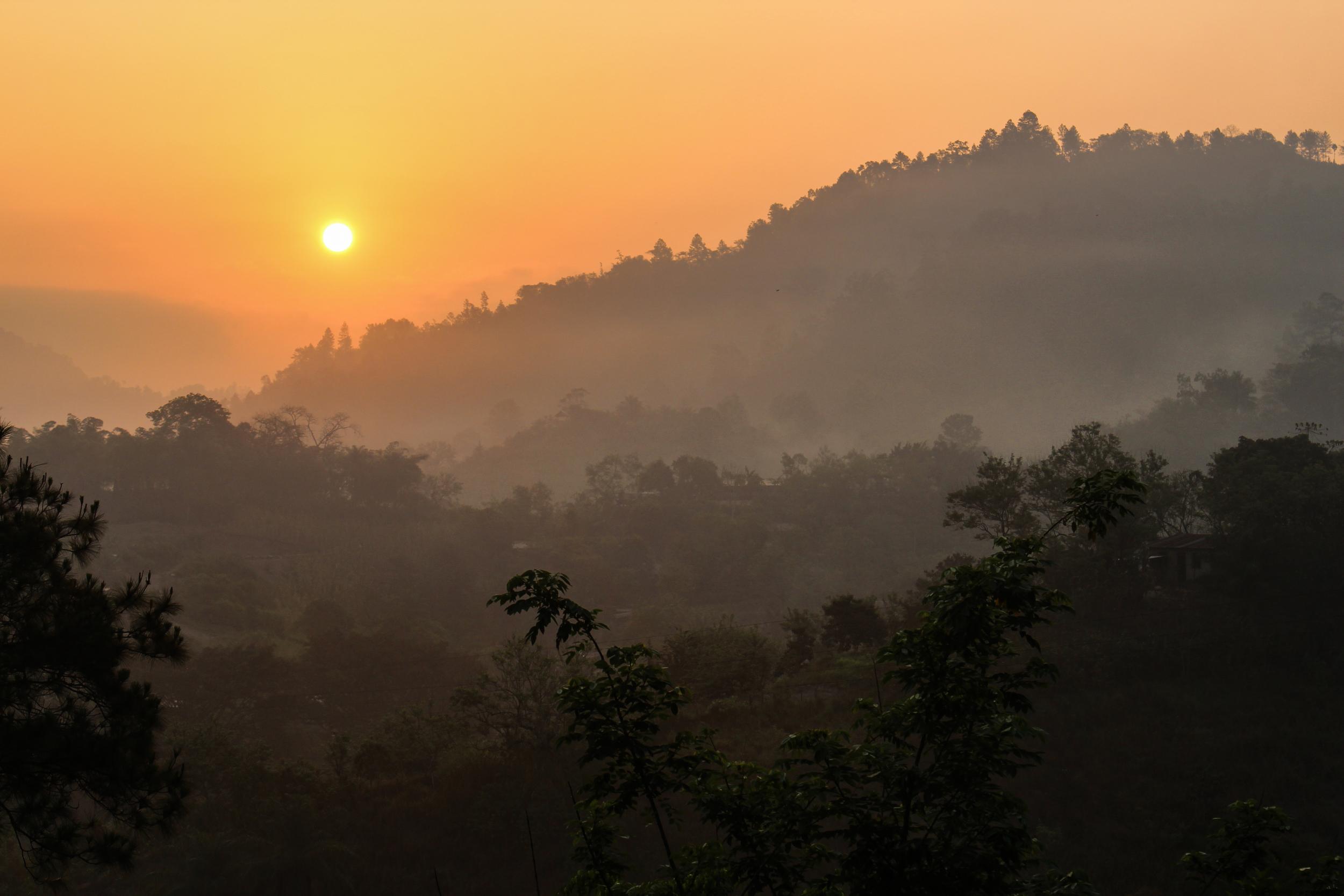 A mystical sunrise in Lanquin