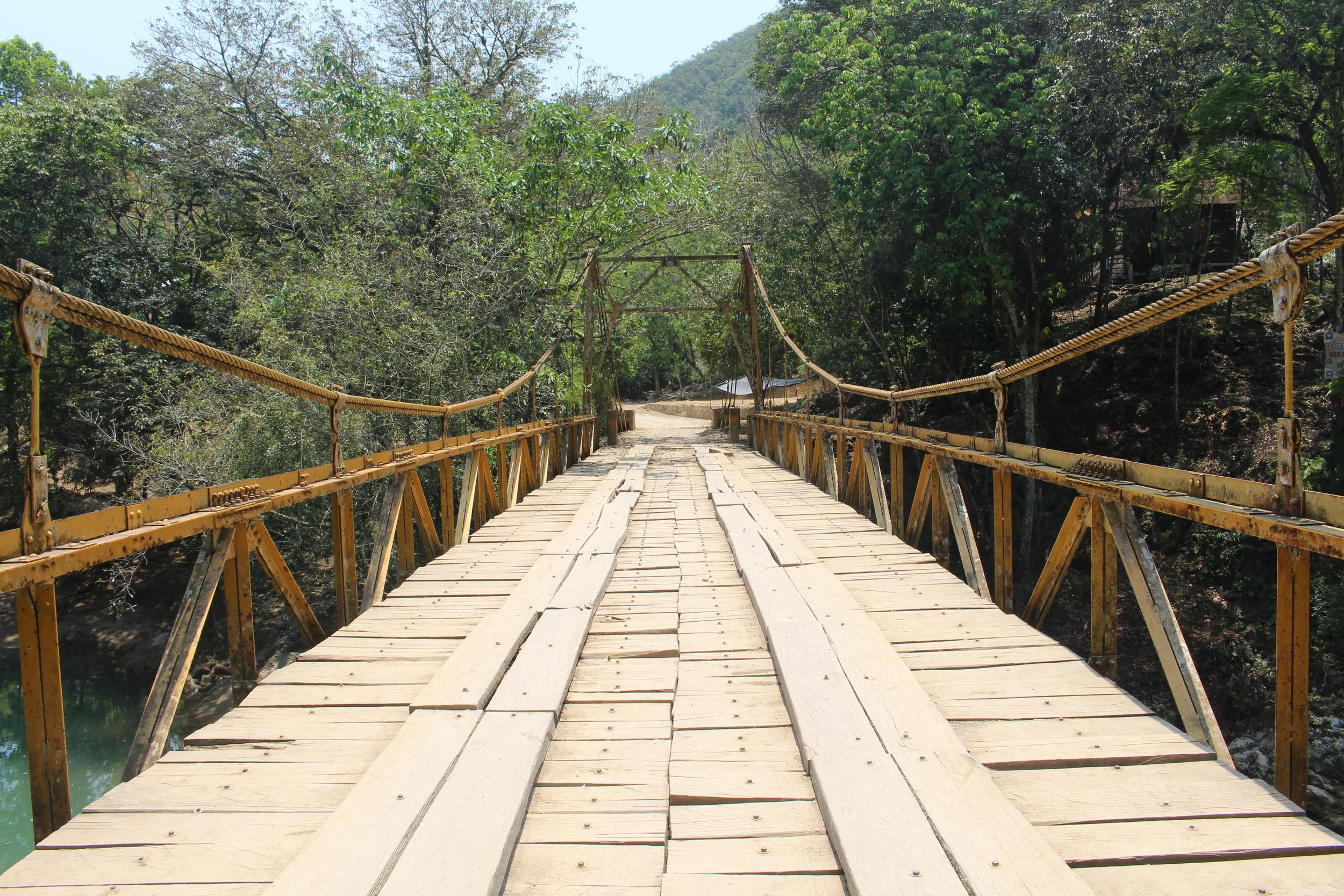 The man-made bridge