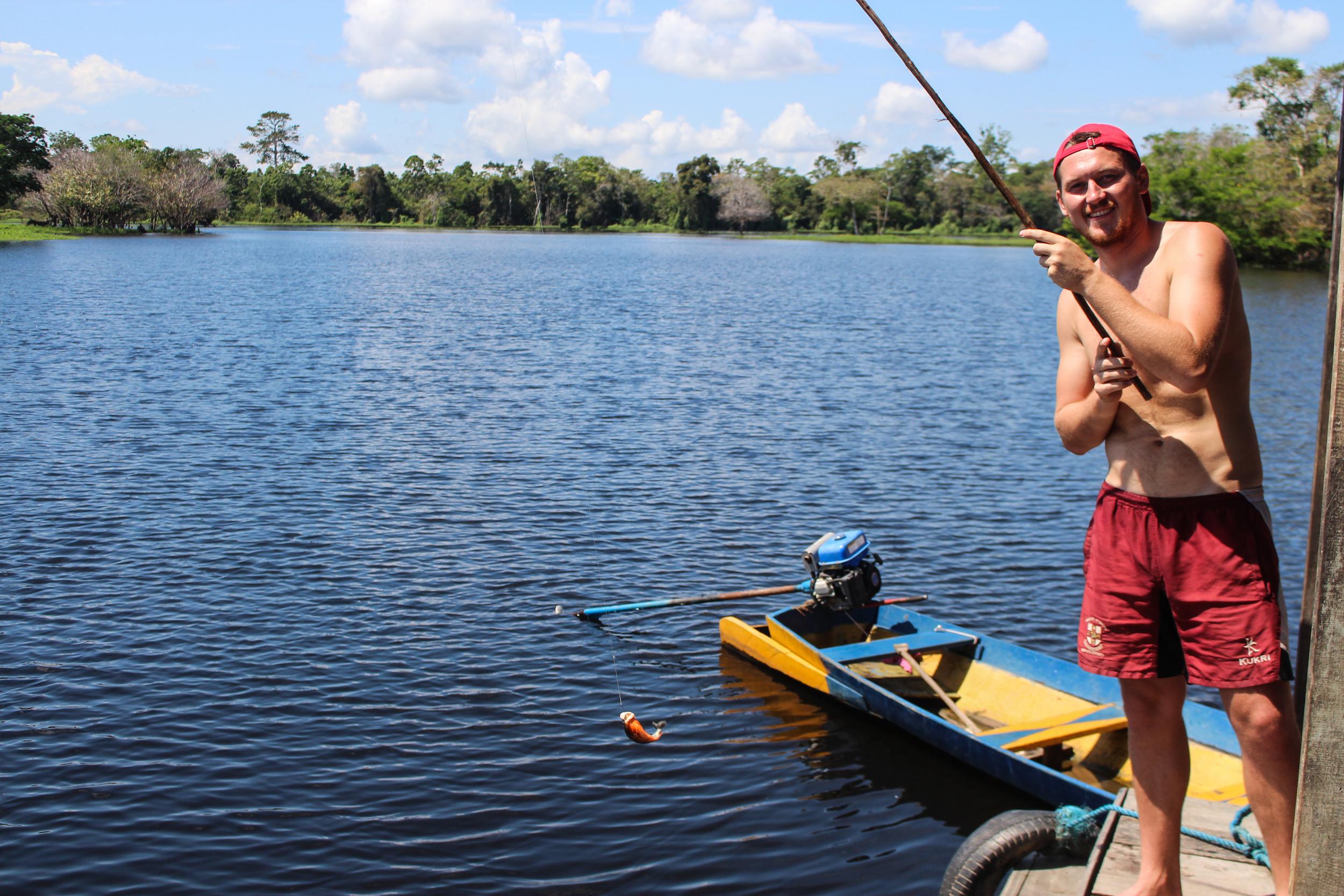 Me with a piranha