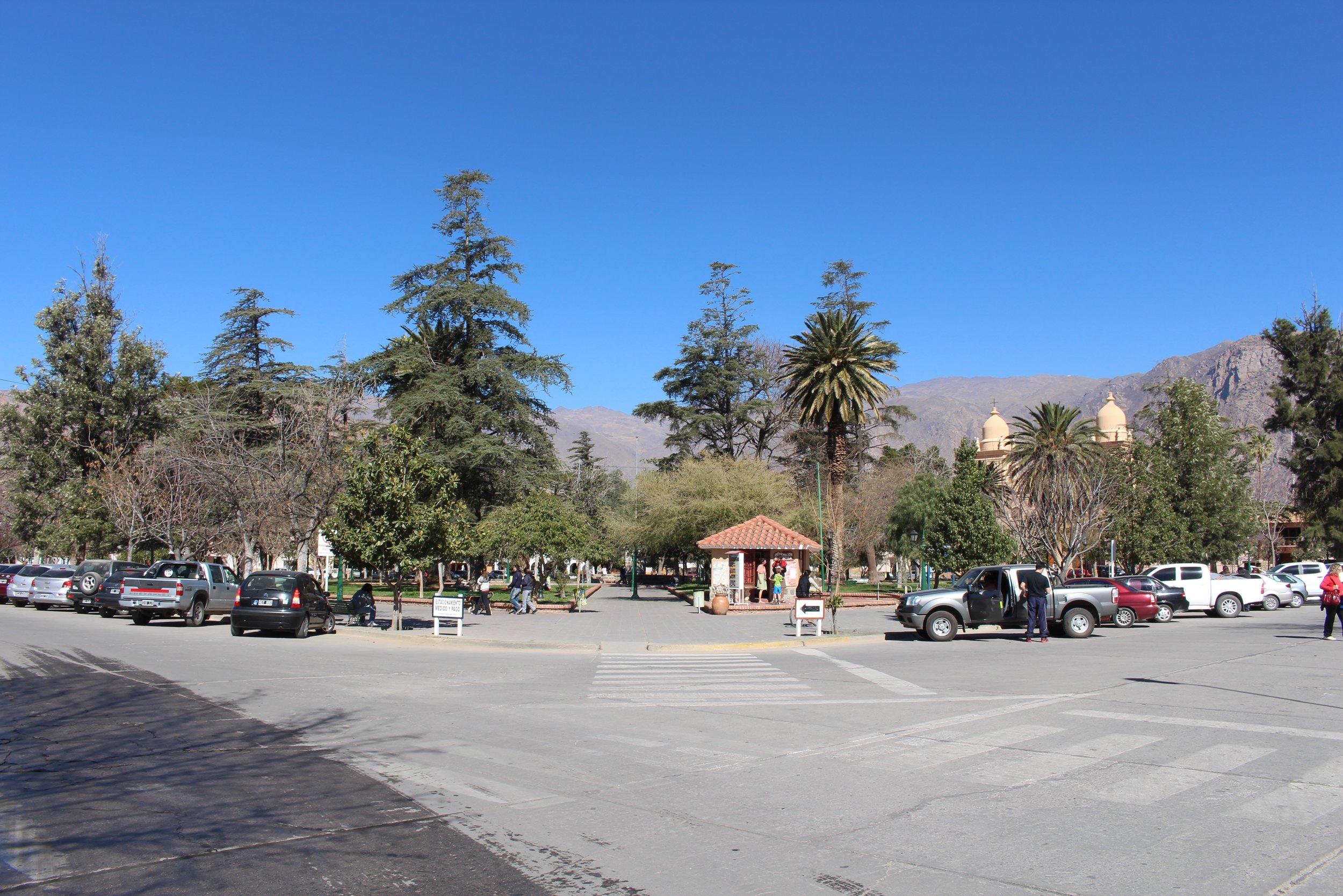 Cafayate's central plaza