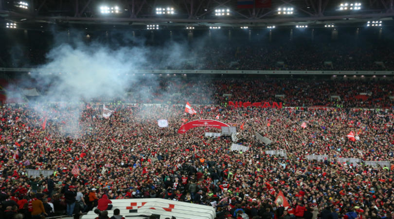 Fans flooded the pitch after the title was sealed   © fourfourtwo.com