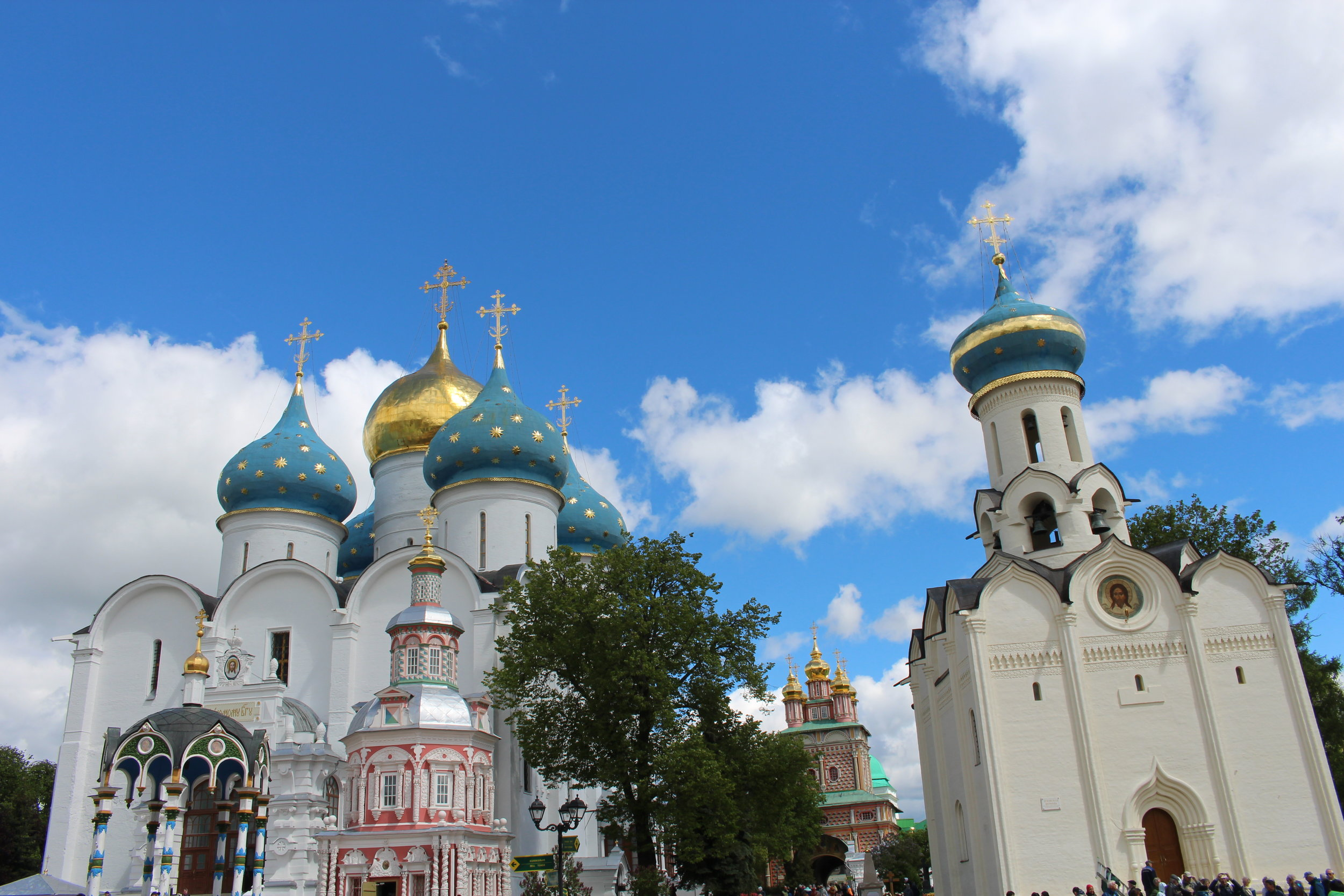 Onion domed churches in Sergiev Posad