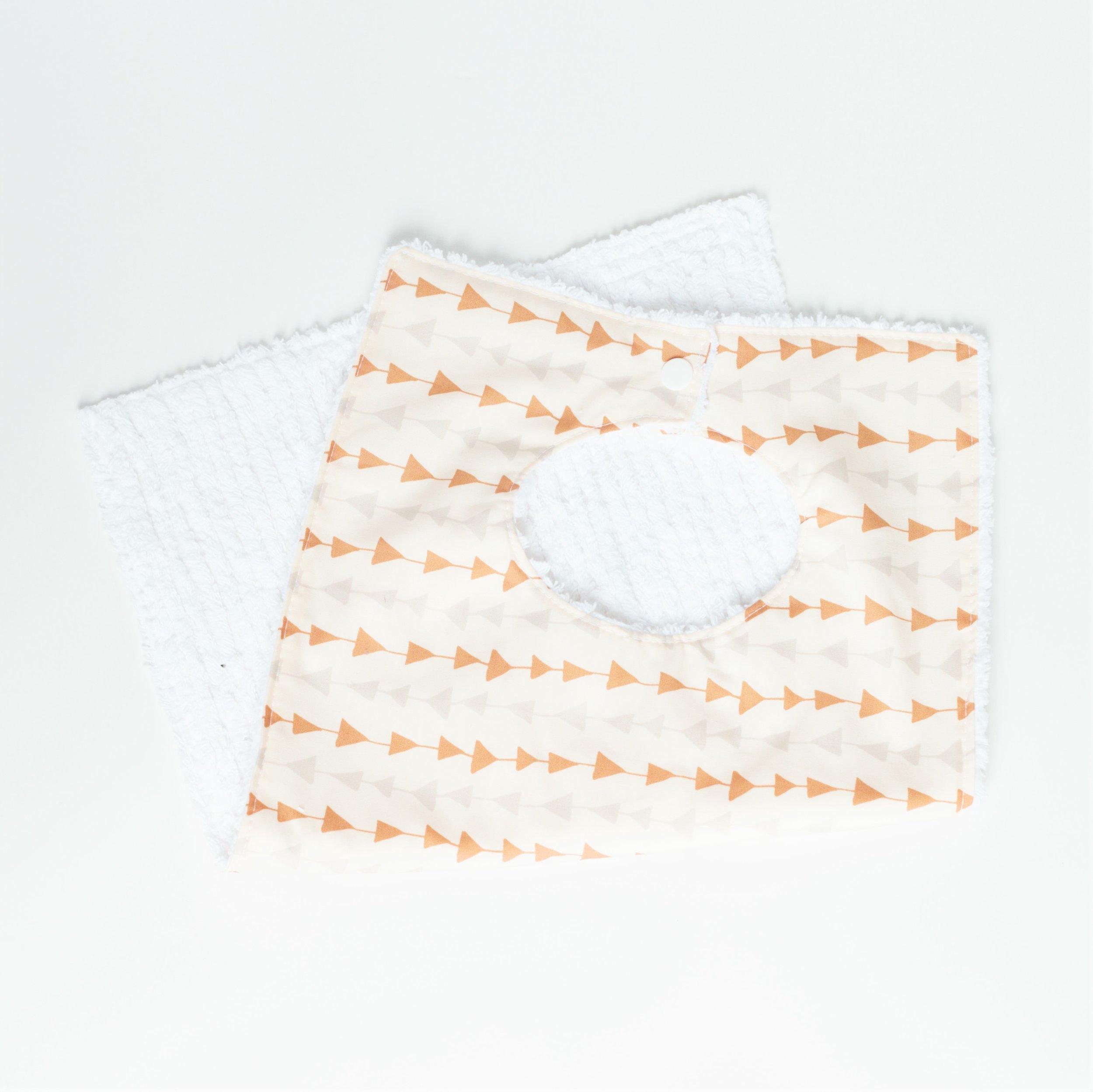 Toddler Bib. Cotton Bib. Washable Bib. Towel Bib.