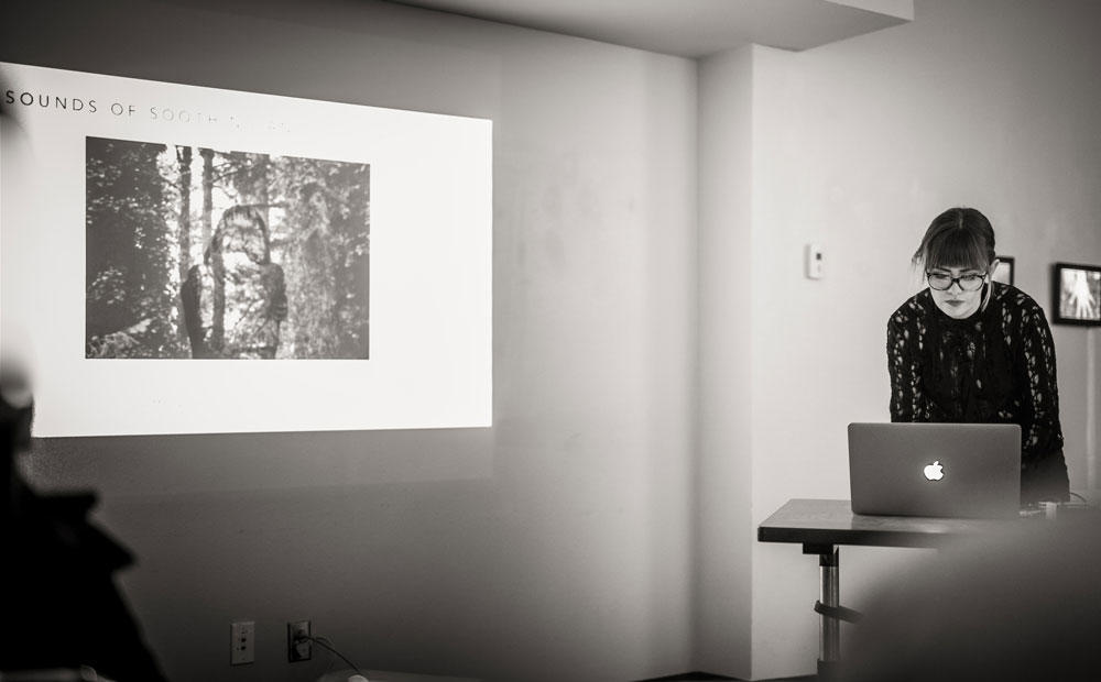 Image of Amanda giving a talk at CFA Downtown Studio.  Click on the image above the read the full article