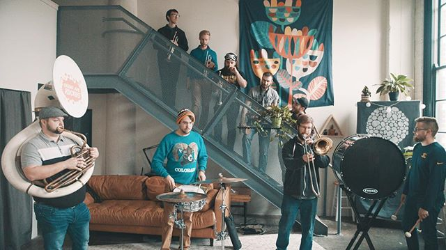 This was loud. @GrandAveRuckus living up to their namesake in the loft.  Session with the 9-piece this Tuesday.