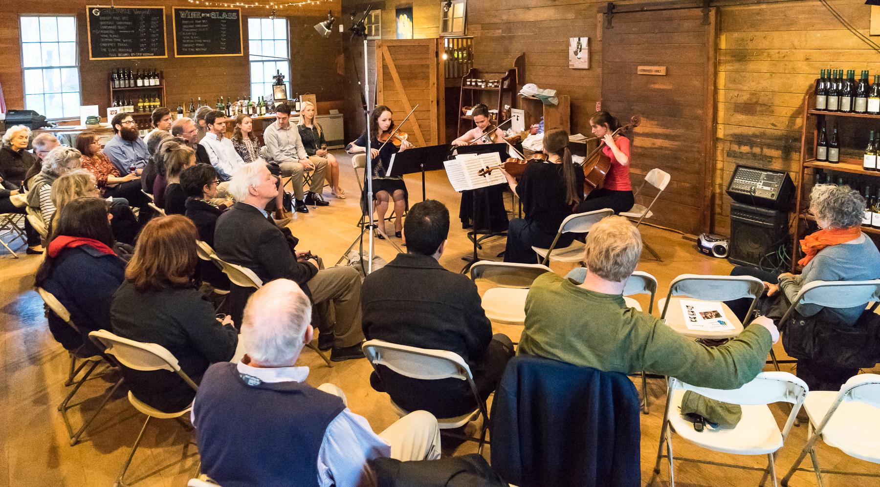 STring Quartets by Gershwin, Schubert and Beethoven At greenvale vineyards