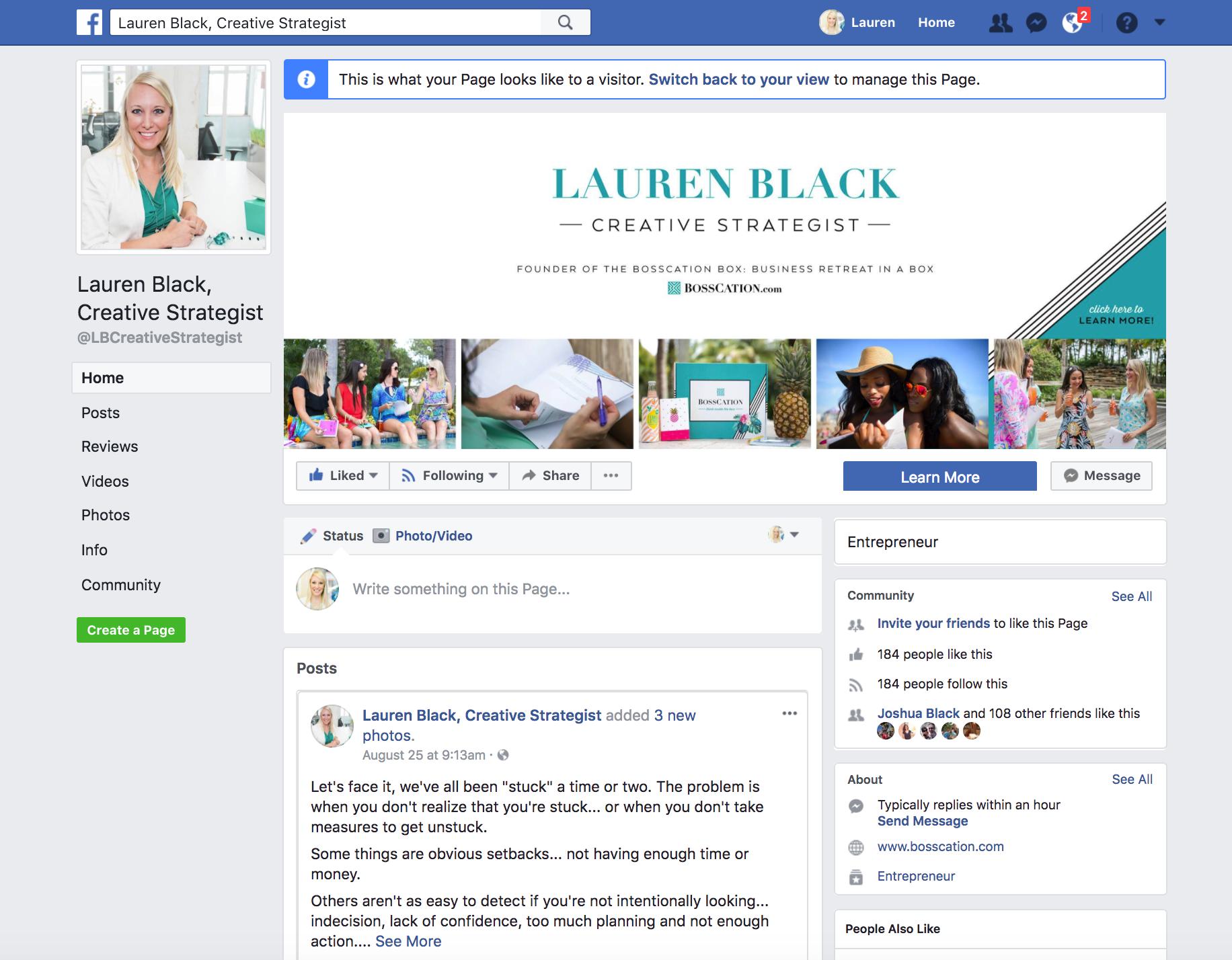 Lauren Black Creative Strategist Facebook